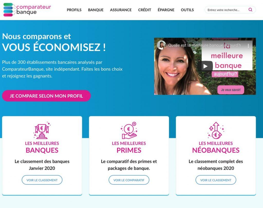 Home Page Comparateur Banque